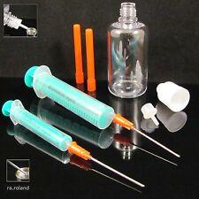 1 Spritze 2ml + 1 Spritze 10ml + 2 stumpfe Kanülen + 1 Liquidflasche 50ml Set