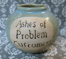 ASHES of PROBLEM Customers 'FUND' MONEY JAR Misspelled Error Misprint NO LID