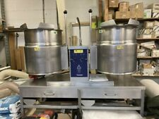 More details for cleveland tket-12-t twin drawer base twin electric jacketed boiling tilt kettle