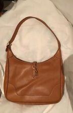 Hermes Auth Camel Clemence Taurillon Handbag/Shoulder Bag