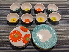 New ListingLaurie Gates Melamine Floral Dinnerware 3 Piece Serving For 8 (24 Pieces) Costco