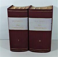 LES CONTEMPORAINS. 8 EXEMPLAIRES EN 2 VOLUMES. J. LEMAITRE. PARIS. 1884/85.