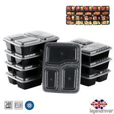 10 Envases de plásticos 3 Cajas Envases apilables de microondas Caja de comida E