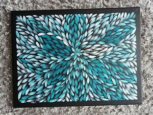Aboriginal art paintings original 60 x45cm approx bush medicine leaves