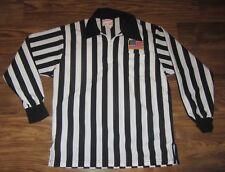 Referee Mens Soccer Zip Jersey, White/Black, Powers, Us Flag, Size Xl, Euc