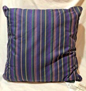"Ralph Lauren REP Repetative Stripe 20"" Square Throw Pillow Cover Only  NOS / NWT"