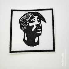 "TUPAC Embroidered Iron On Patch 3 "" X 3 """