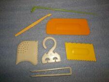 Tupperware Gadgets Scraper Cake Decorator Citrus Peeler Iced Tea Spoon Tongs