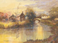 T. Skett - Mid 20th Century Watercolour, River Landscape