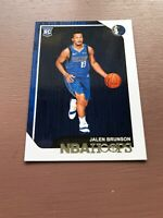 2018/19 Hoops Basketball Trading Card, (Rookie) #243 Jalen Brunson