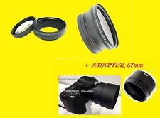 BOWER HD PRO 0.43x WIDE ANGLE LENS MACRO +ADAPTER NIKON COOLPIX L330 67mm