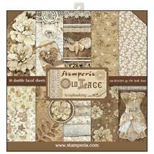 "NEW Stamperia 12"" x 12"" Paper Pad Old Lace"
