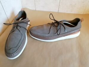 Clarks Mens Grey Suede Casual Shoes Size 8 Eu 42