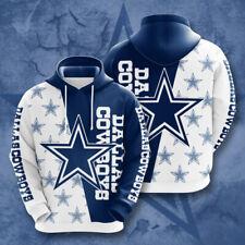 2020 New Dallas Cowboys Football Hoodie Men's 3D Print Sweatshirt Pullover Tops