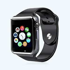 Smartwatch A1 Bluetooth Uhr Curved Display Android iOS Samsung iPhone HTC Huawei