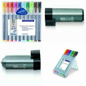 Staedtler Triplus Fineliner Pens, Pack of 10, Assorted 10-Pack, Multicolor