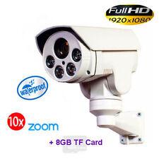 HD 1080P Mini Draussen CCTV IR Kugel IP PTZ Kamera 10x Optisch zoom 2M HD 8GB