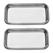 Medical Stainless Steel Surgery Tray Dental Sterilize Square Tray Autoclavable