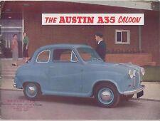 Austin A35 Saloon 1956-59 Original UK Sales Brochure Pub No 901/G