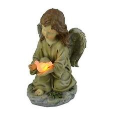 Moonrays 91338 Solar Powered Angel with Glowing Dove Statue LED Light New