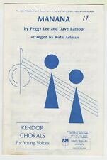Choral Music:Manana by Peggy Lee & Dave Barbour-2-Part-Qty 10-Kendor Music(4394)