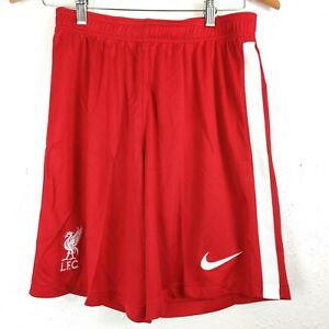 Nike Liverpool FC Soccer Shorts Home Red White 20/21 DB2831-687 Men's Size M