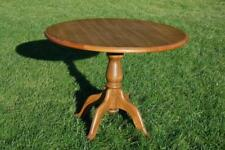 Circular Pedestal Wood Grain Effect Kitchen Dining Table Seats Four