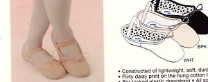 CAPEZIO Daisy #205C GIRLS Sizes BPink Full Sole attached elas Ballet shoes New