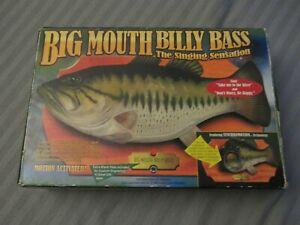 Big Mouth Billy Bass The Original in Box works-tested Vintage,Singing Bass used