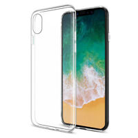 iPhone 6 6S 8 7 Plus Case Silicone Clear Transparent Slim Gel TPU Rubber