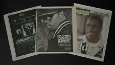 P. Diddy Sean Combs 2007 2008 3Pc Concert & Tv Show Ads Newspaper Interview Lot