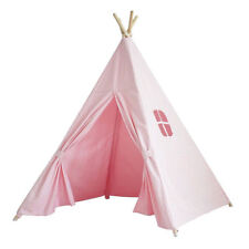 Holiday Gift PINK 6ft Cotton Canvas Deluxe Teepee Playhouse Play Tent For Kids