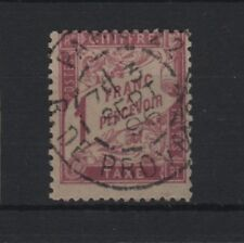 "FRANCE STAMP TIMBRE TAXE 39 "" DUVAL 1F ROSE SUR PAILLE 1896 "" OBLITERE TB T580"