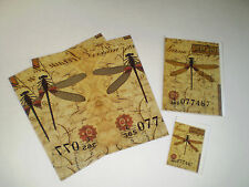 """Vintage-inspired Gift Wrap and Cards: """"Dragonfly Post"""" Nature"""
