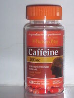 CAFFEINE 200MG 8 HOUR SUSTAINED RELEASE ENERGY BOOST CLARITY 60 BEAD CAPSULES