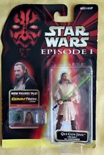 1998 Star Wars Episode One Action Figure Qui-Gon Jinn with Lightsaber MOC