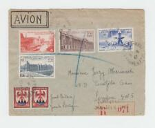 FRANCE 1947 (8-5) UPU SET ON COVER REG TO UK, 120c ADDED (SEE BELOW)