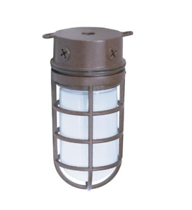 Nuvo Lighting 76-625 Old Bronze Industrial Style Outdoor Flush Mount Fixture NEW