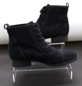 Clarks Mimic Jazz Women Black Suede Lace Up Casual Ankle Boots UK 7.5 D EUR 41.5