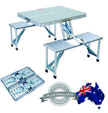 ALUMINIUM FOLDING CAMPING TABLE AND CHAIRS PICNIC SET RV Accessories Parts Jayco
