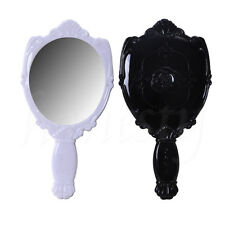 Woman Portable Vintage Trophy Shape Rose Hand Held Mirror Makeup Beauty Gift