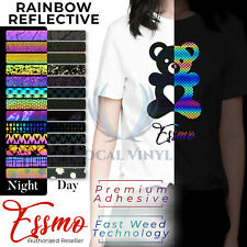 "ESSMO™ 20"" Rainbow Reflective Heat Transfer Vinyl HTV T-Shirt Iron On Heat Press"