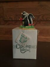 Silvestri Charming Tails Dean Griff Hello There Skunk Figurine with Box