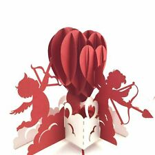 Cupids and Love Heart 3D pop up card