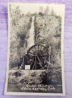 Antique Postcard Bridal Veil Falls Idaho Springs Colorado Water RPPC Unposted