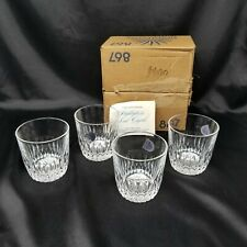 "4 Highlights In Lead Crystal By Princess House Highball Glasses 4"" New in Box"