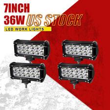 4x 7INCH 36W LED WORK LIGHT BAR SPOT OFFROAD 4WD TRUCK ATV SUV FOG DRIVING LAMP