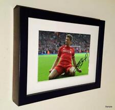 Kop Celebration Signed Steven Gerrard Liverpool Autographed Photo Picture Frame