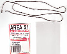 Area-51 Agent -  Xfiles X-Files novelty BADGE ID card Identification Card chain