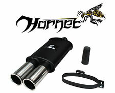 "Hornet Universal Exhaust Sports Backbox - Twin 3"" Round Stainless Steel Tailpipe"